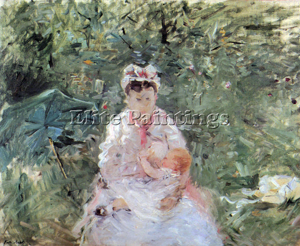 MORISOT JULIE MANET ARTIST PAINTING REPRODUCTION HANDMADE CANVAS REPRO WALL DECO