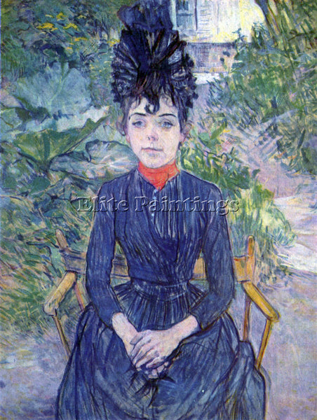 TOULOUSE-LAUTREC JUSTINE DIEUHL 2 ARTIST PAINTING REPRODUCTION HANDMADE OIL DECO