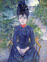 TOULOUSE-LAUTREC JUSTINE DIEUHL ARTIST PAINTING REPRODUCTION HANDMADE OIL CANVAS