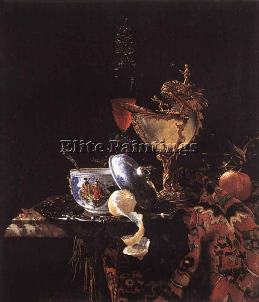 WILLEM KALF STILL LIFE WITH A NAUTILUS CUP ARTIST PAINTING REPRODUCTION HANDMADE
