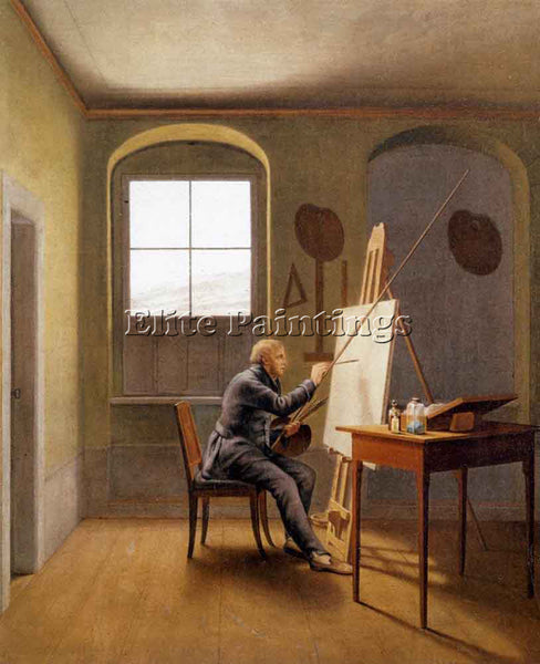 GEORG FRIEDRICH KERSTING CASPAR DAVID FRIEDRICH IN HIS STUDIO 1811 REPRODUCTION