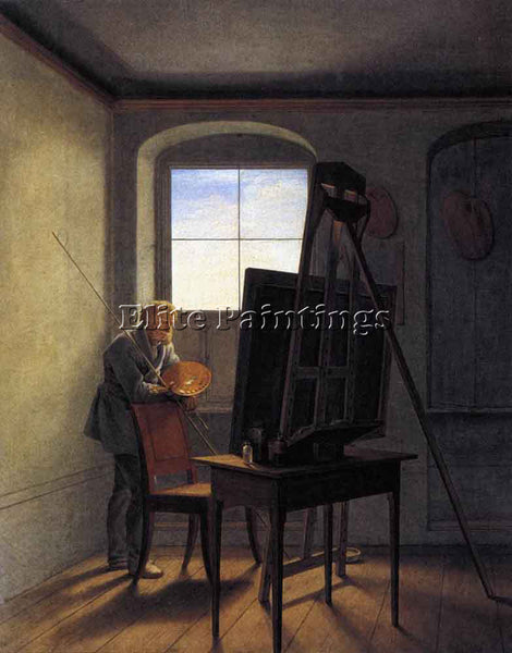 GEORG FRIEDRICH KERSTING CASPAR DAVID FRIEDRICH IN HIS STUDIO 1812 REPRODUCTION