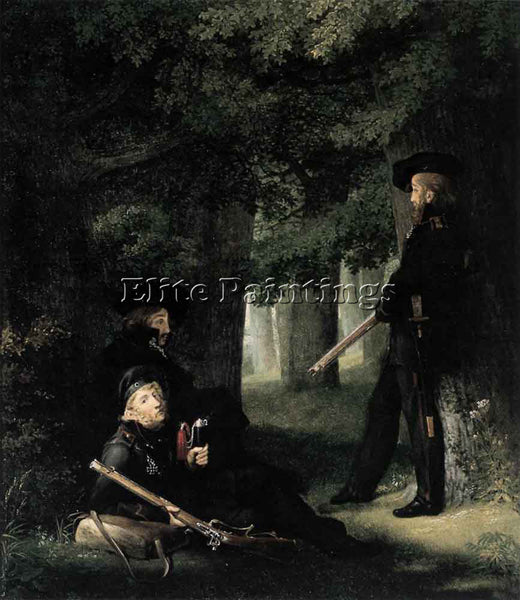 GEORG FRIEDRICH KERSTING ON OUTPOST DUTY ARTIST PAINTING REPRODUCTION HANDMADE