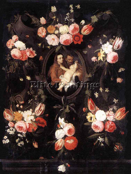 JAN VAN KESSEL HOLY FAMILY ARTIST PAINTING REPRODUCTION HANDMADE OIL CANVAS DECO