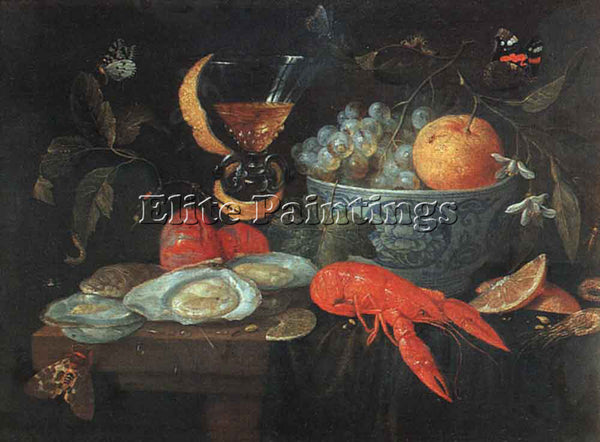JAN VAN KESSEL STILL LIFE WITH FRUIT AND SHELLFISH ARTIST PAINTING REPRODUCTION