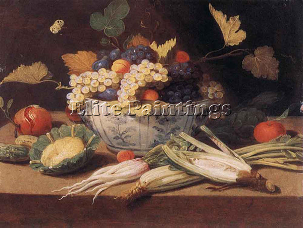 JAN VAN KESSEL STILL LIFE WITH VEGETABLES ARTIST PAINTING REPRODUCTION HANDMADE