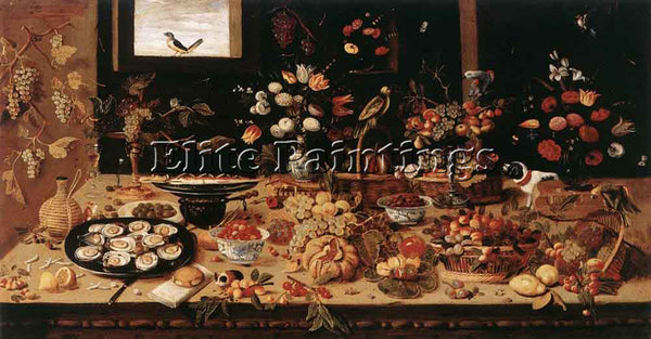 JAN VAN KESSEL STILL LIFE ARTIST PAINTING REPRODUCTION HANDMADE OIL CANVAS REPRO