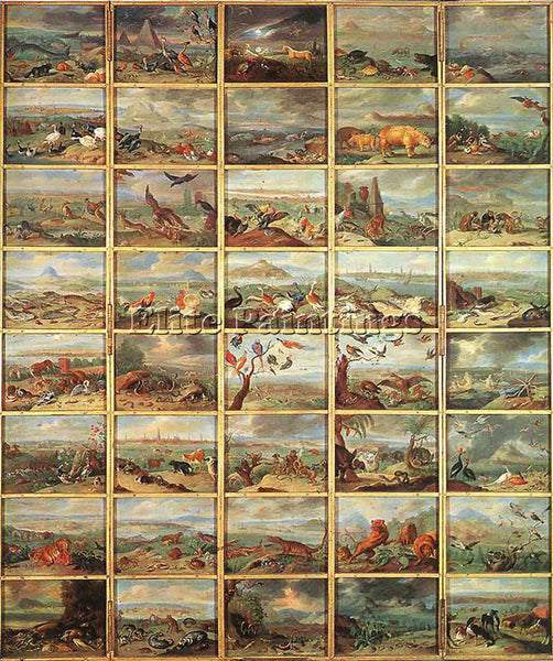JAN VAN KESSEL THE ANIMALS ARTIST PAINTING REPRODUCTION HANDMADE OIL CANVAS DECO