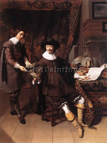 THOMAS DE KEYSER CONSTANTIJN HUYGENS AND HIS CLERK ARTIST PAINTING REPRODUCTION
