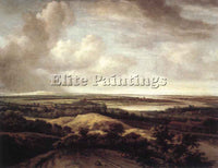 PHILIPS KONINCK PANORAMA VIEW OF DUNES AND A RIVER ARTIST PAINTING REPRODUCTION
