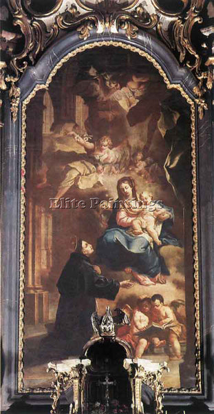 JOHANN LUCAS KRACKER APPEARANCE OF THE VIRGIN TO ST ANTHONY ARTIST PAINTING OIL