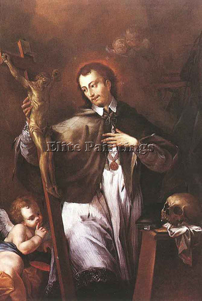 JOHANN LUCAS KRACKER SAINT JOHN OF NEPOMUK ARTIST PAINTING REPRODUCTION HANDMADE