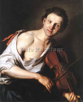 JAN KUPECKY YOUNG MAN WITH A VIOLIN ARTIST PAINTING REPRODUCTION HANDMADE OIL