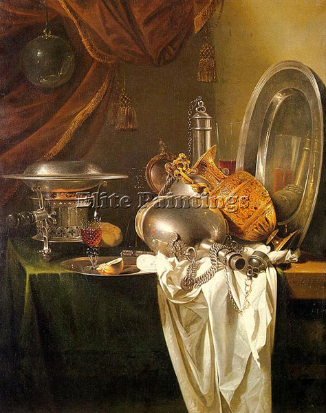 WILLEM KALF 49STILL ARTIST PAINTING REPRODUCTION HANDMADE CANVAS REPRO WALL DECO