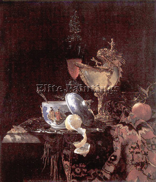 WILLEM KALF 62NAUTILUS ARTIST PAINTING REPRODUCTION HANDMADE CANVAS REPRO WALL
