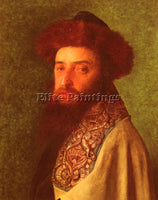 ISIDOR KAUFMANN YOUNG RABBI WITH BLUE TALLIS ARTIST PAINTING HANDMADE OIL CANVAS