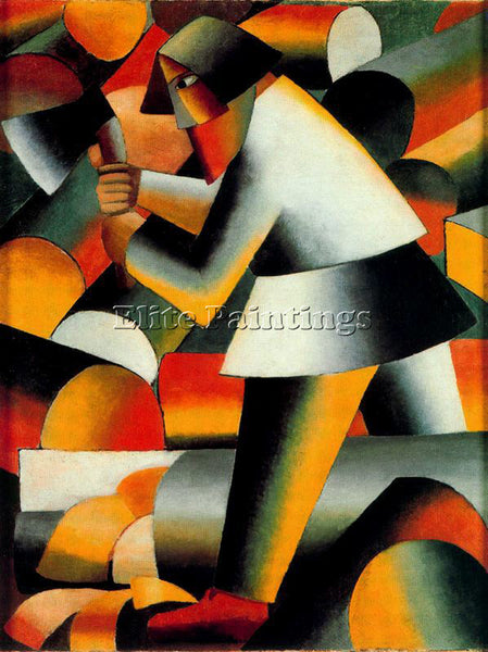 KAZIMIR MALEVICH MALE131 ARTIST PAINTING REPRODUCTION HANDMADE CANVAS REPRO WALL