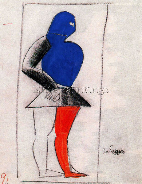 KAZIMIR MALEVICH MALE132 ARTIST PAINTING REPRODUCTION HANDMADE CANVAS REPRO WALL