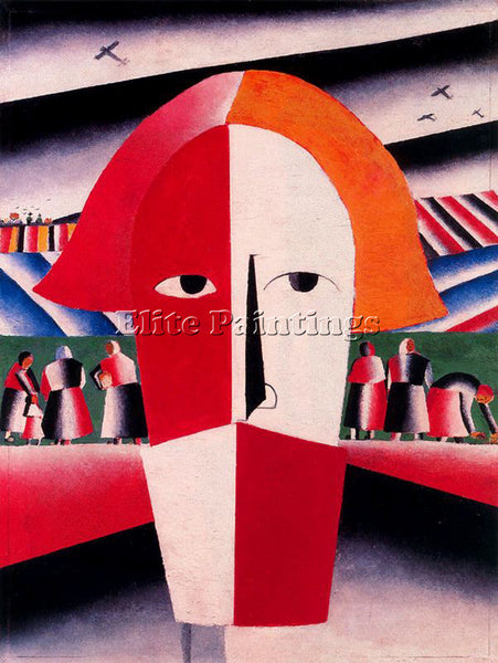 KAZIMIR MALEVICH MALE136 ARTIST PAINTING REPRODUCTION HANDMADE CANVAS REPRO WALL