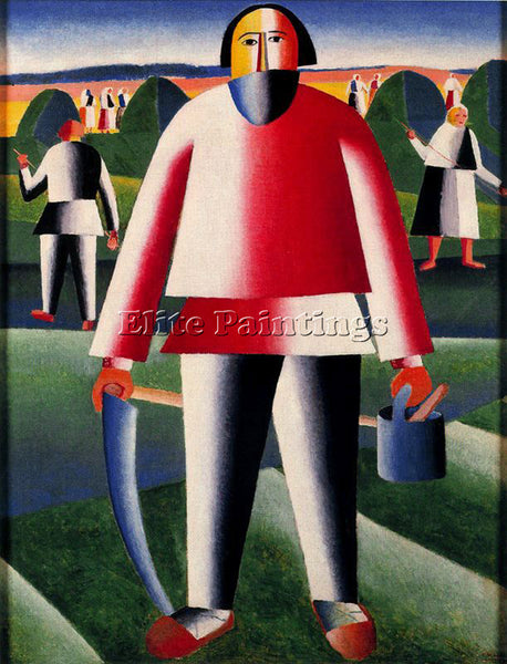 KAZIMIR MALEVICH MALE139 ARTIST PAINTING REPRODUCTION HANDMADE CANVAS REPRO WALL