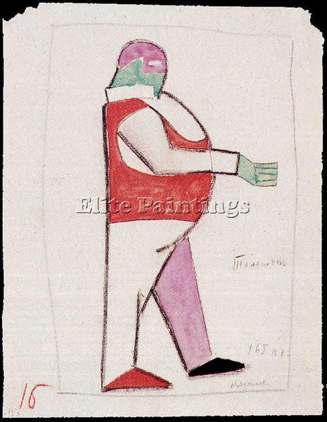 KAZIMIR MALEVICH MALE140 ARTIST PAINTING REPRODUCTION HANDMADE CANVAS REPRO WALL