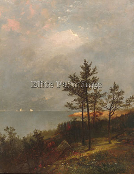JOHN FREDERICK KENSETT GATHERING STORM ON LONG ISLAND SOUND ARTIST PAINTING OIL