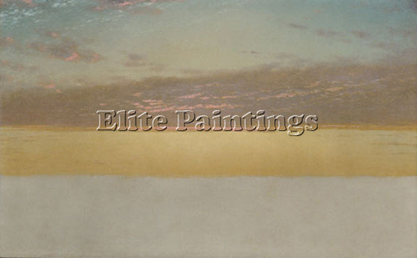 JOHN FREDERICK KENSETT SUNSET SKY ARTIST PAINTING REPRODUCTION HANDMADE OIL DECO