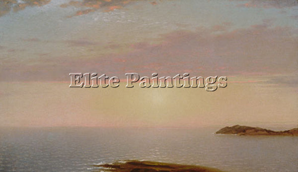 JOHN FREDERICK KENSETT SUNSET ARTIST PAINTING REPRODUCTION HANDMADE CANVAS REPRO