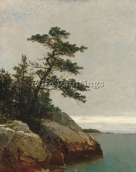 JOHN FREDERICK KENSETT THE OLD PINE DARIEN CONNECTICUT ARTIST PAINTING HANDMADE