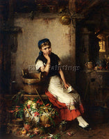 HERMANN KERN THE LOVE LETTER ARTIST PAINTING REPRODUCTION HANDMADE CANVAS REPRO