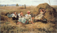 DANIEL RIDGWAY KNIGHT  DR THE HARVESTERS RESTING DETAIL ARTIST PAINTING HANDMADE