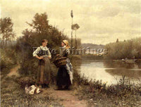 DANIEL RIDGWAY KNIGHT A CONVERSATION ARTIST PAINTING REPRODUCTION HANDMADE OIL