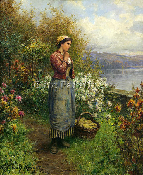 DANIEL RIDGWAY KNIGHT JULIA ON THE TERRACE ARTIST PAINTING REPRODUCTION HANDMADE
