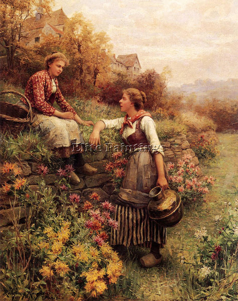 DANIEL RIDGWAY KNIGHT MARIE AND DIANE ARTIST PAINTING REPRODUCTION HANDMADE OIL