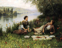DANIEL RIDGWAY KNIGHT NORMANDY GARDEN AKA LE GOUTER ARTIST PAINTING REPRODUCTION