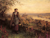 DANIEL RIDGWAY KNIGHT SPRINGTIME ARTIST PAINTING REPRODUCTION HANDMADE OIL REPRO
