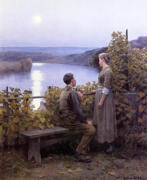 DANIEL RIDGWAY KNIGHT SUMMER EVENING ARTIST PAINTING REPRODUCTION HANDMADE OIL