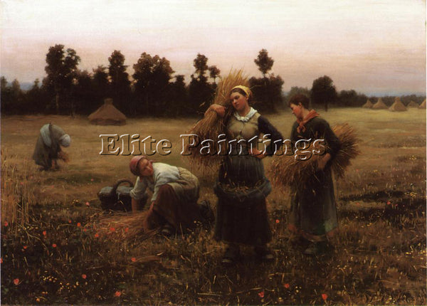 DANIEL RIDGWAY KNIGHT THE HARVESTERS ARTIST PAINTING REPRODUCTION HANDMADE OIL