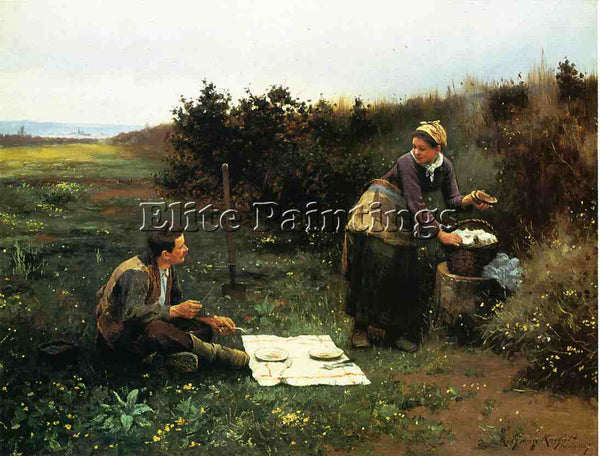 DANIEL RIDGWAY KNIGHT THE HONEYMOON BREAKFAST ARTIST PAINTING REPRODUCTION OIL
