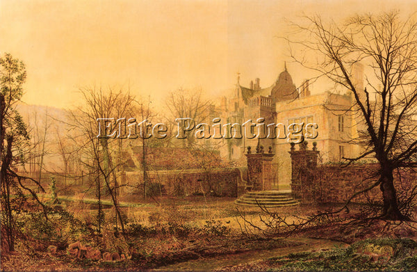 JOHN ATKINSON GRIMSHAW KNOSTROP HALL EARLY MORNING ARTIST PAINTING REPRODUCTION