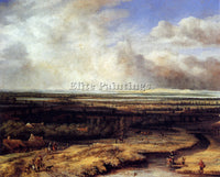 PHILIPS KONINCK AN EXTENSIVE LANDSCAPE WITH A HAWKING PARTY ARTIST PAINTING OIL