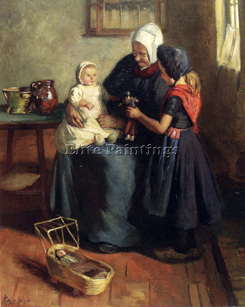 NORWAY KRABBE HENDRIK MAARTEN THE NEW DOLL ARTIST PAINTING REPRODUCTION HANDMADE