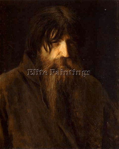 IVAN NIKOLAEVICH KRAMSKOY HEAD OF AN OLD PEASANT ARTIST PAINTING HANDMADE CANVAS