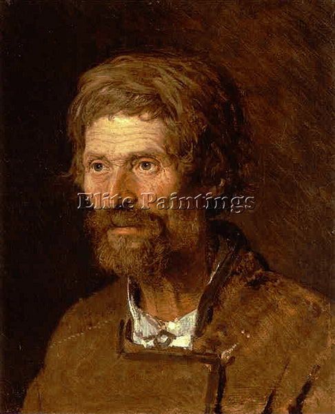 IVAN NIKOLAEVICH KRAMSKOY HEAD OF AN OLD UKRANIAN PEASANT ARTIST PAINTING CANVAS