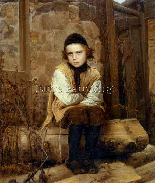 IVAN NIKOLAEVICH KRAMSKOY INSULTED JEWISH BOY ARTIST PAINTING REPRODUCTION OIL