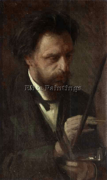 IVAN NIKOLAEVICH KRAMSKOY PORTRAIT OF THE ARTIST GRIGORY MYASOYEDOV PAINTING OIL