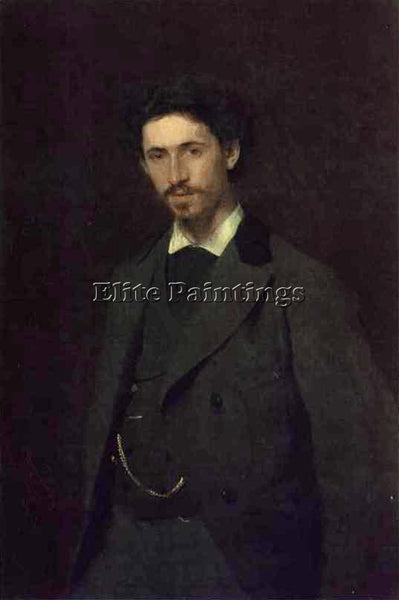IVAN NIKOLAEVICH KRAMSKOY PORTRAIT OF THE ARTIST ILYA REPIN ARTIST PAINTING OIL