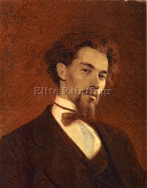 IVAN NIKOLAEVICH KRAMSKOY PORTRAIT OF THE ARTIST KONSTANTIN SAVITSKY OIL CANVAS