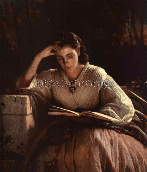 IVAN NIKOLAEVICH KRAMSKOY SOPHIA KRAMSKAYA READING ARTIST PAINTING REPRODUCTION