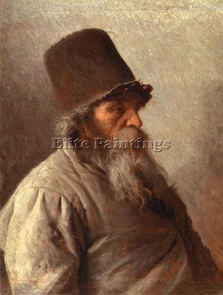 IVAN NIKOLAEVICH KRAMSKOY VILLAGE ELDER ARTIST PAINTING REPRODUCTION HANDMADE
